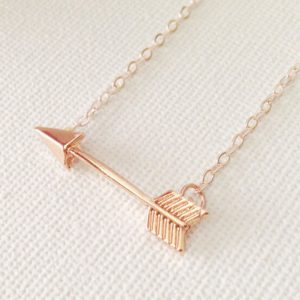 arrow necklace rose gold