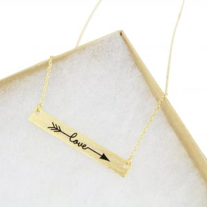 engraved love necklace box