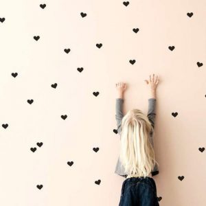wall sticker hearts black