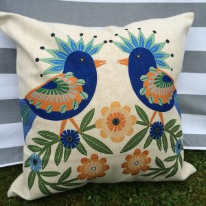 agatha retro bird cushion cover main