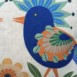 agatha retro bird cushion cover detail
