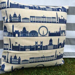 alexa london skyline cushion cover detail