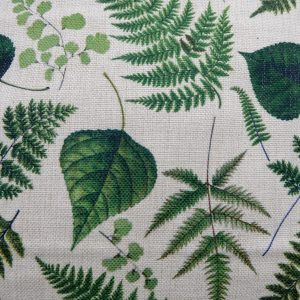 dr ellie botanical leaves cushion cover detail