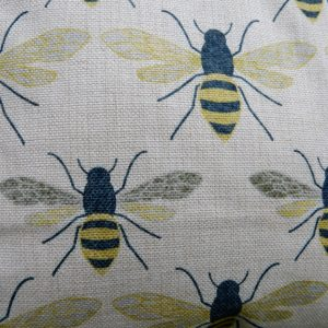 effie botanical bee cushion detail