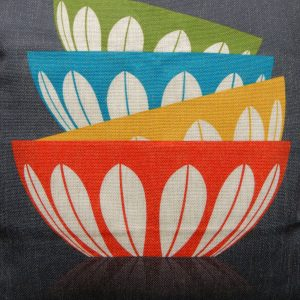eliza retro tupperware cushion cover detail