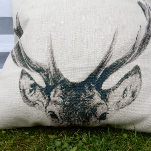 eryn stag cushion cover detail