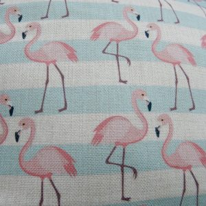 florence flamingo cushion cover detail