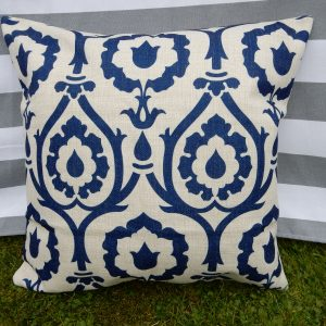 lyndsey blue patterned cushion cover main