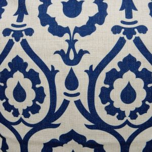 lyndsey blue patterned cushion cover detail